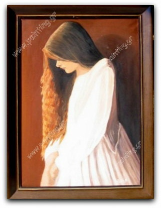 Girl Vintage  oil painting made 1981 by ORIGINALsPAINTINGS on Etsy, €550.00
