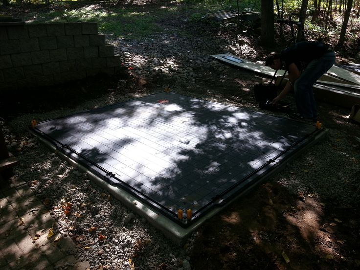 Shed Floor on Cement Slab Base