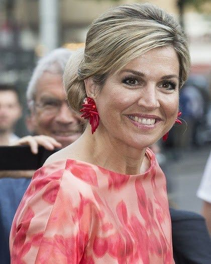 Queen Maxima of the Netherlands in Amsterdam today.