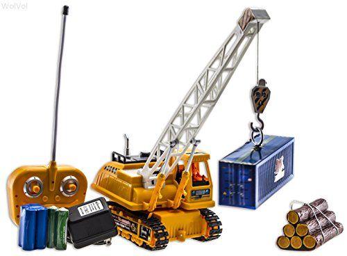 Wolvol 6 Channel Electric Remote Control Crawler Crane