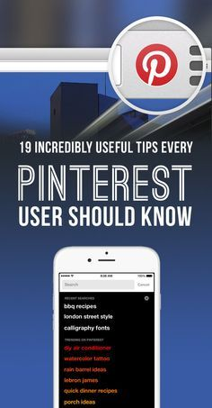 21 Insanely Useful Tips Every Pinterest User Should Know Gives Wonderful and Current tips for Bloggers on uses of pins on Pinterest. #pin