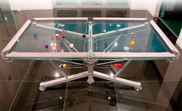 10. Pool Table ~ How weird it would be to play on this Glass Pool Table! Costs $26,000!!