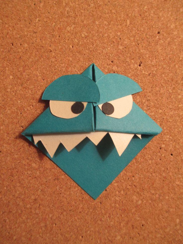 Monster Bookmark Monster Bookmark Origami Bookmarks