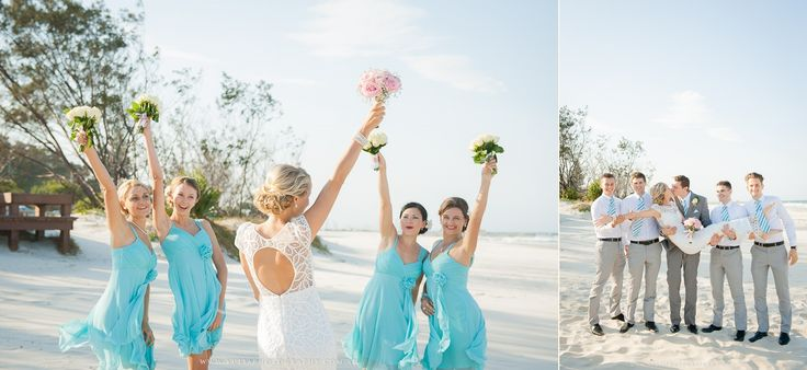 Grey & Turquoise beach wedding ideas. ~Sydney wedding photography by Yulia Photography~ www.yuliaphotography.com.au