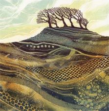 Card Hill Top Copse Rebecca Vincent art