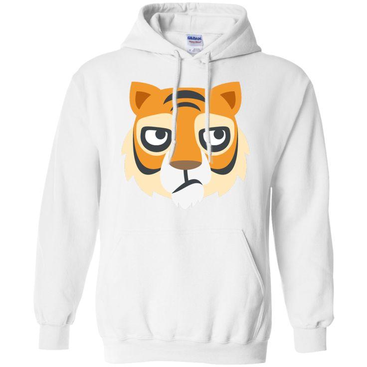 Tiger Face Emoji_T Shirt_navy Hoodie