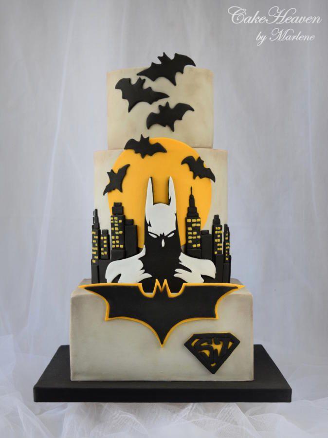 Batman Cake - Baking for Superjosh Collaboration by Marlene - CakeHeaven