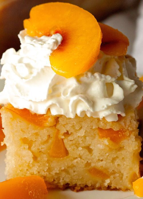 Unique Peach Cobbler Snack Cake