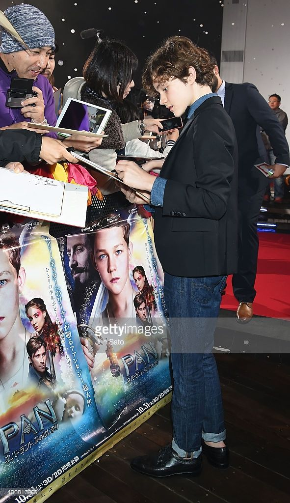 Levi Miller attends the Japan Premiere of 'Pan' at the Roppongi Hills on October 1, 2015 in Tokyo, Japan.