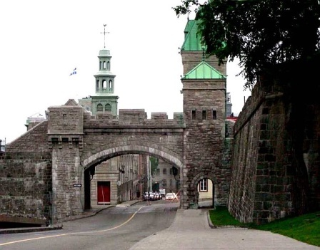 The gates into Old Quebec City