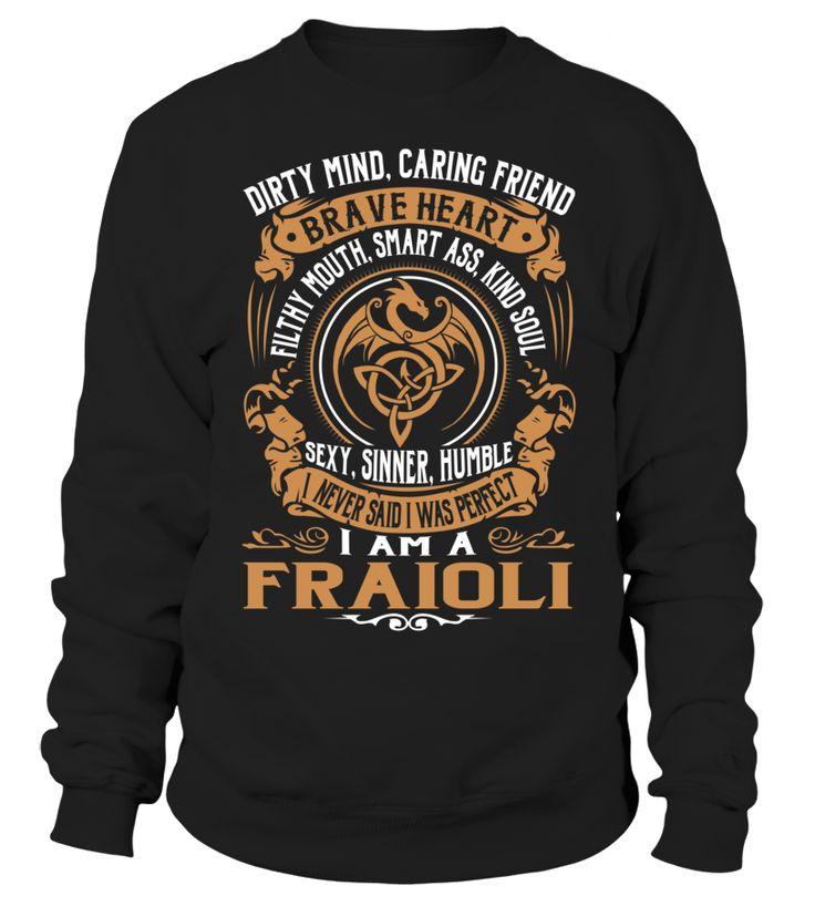 FRAIOLI Brave Heart Last Name T-Shirt #Fraioli