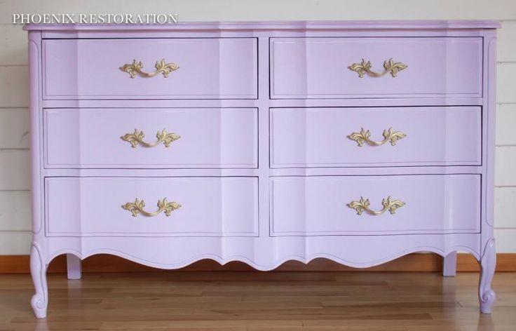 Custom Mixed Purple Dresser | Phoenix Restoration | General Finishes Design Center