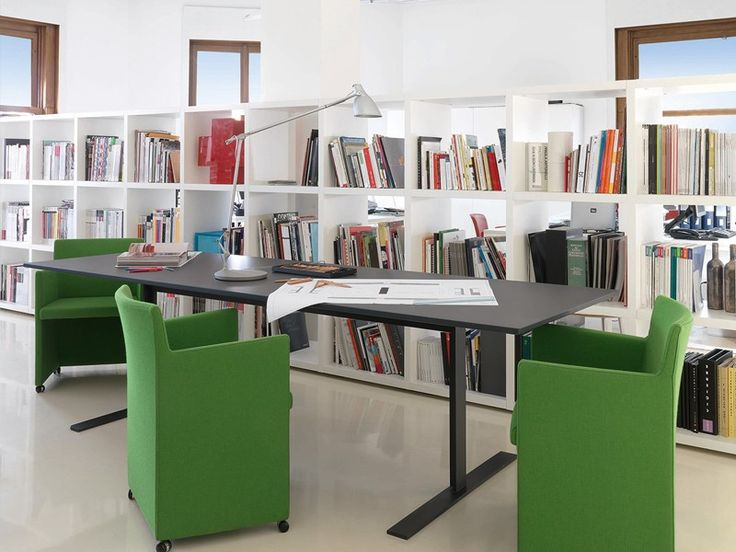 Luxor is @cappellininext #Table or office #desk with MDF top and metal frame, available in all the lacquered colours.