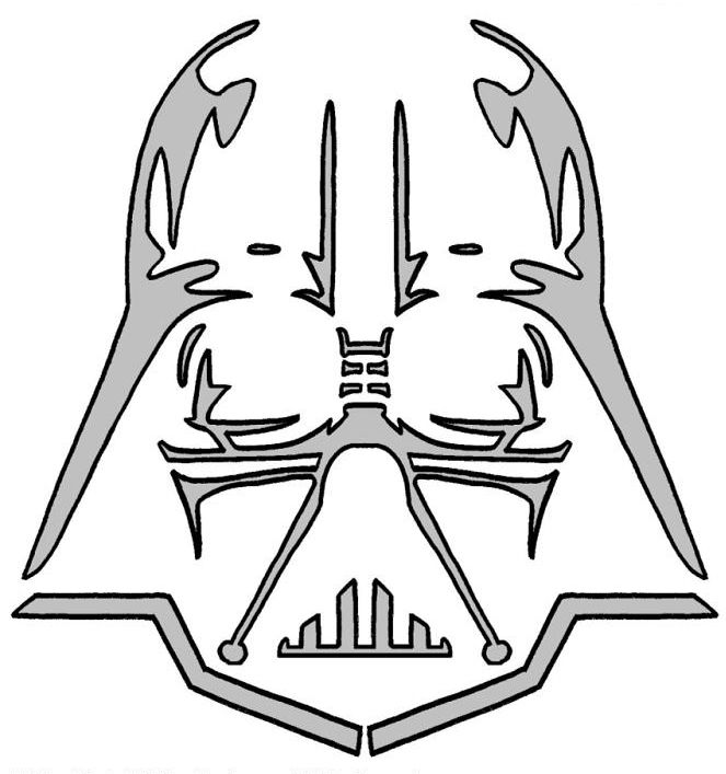 all subscribers darth vader pumpkin carving pattern 663x707