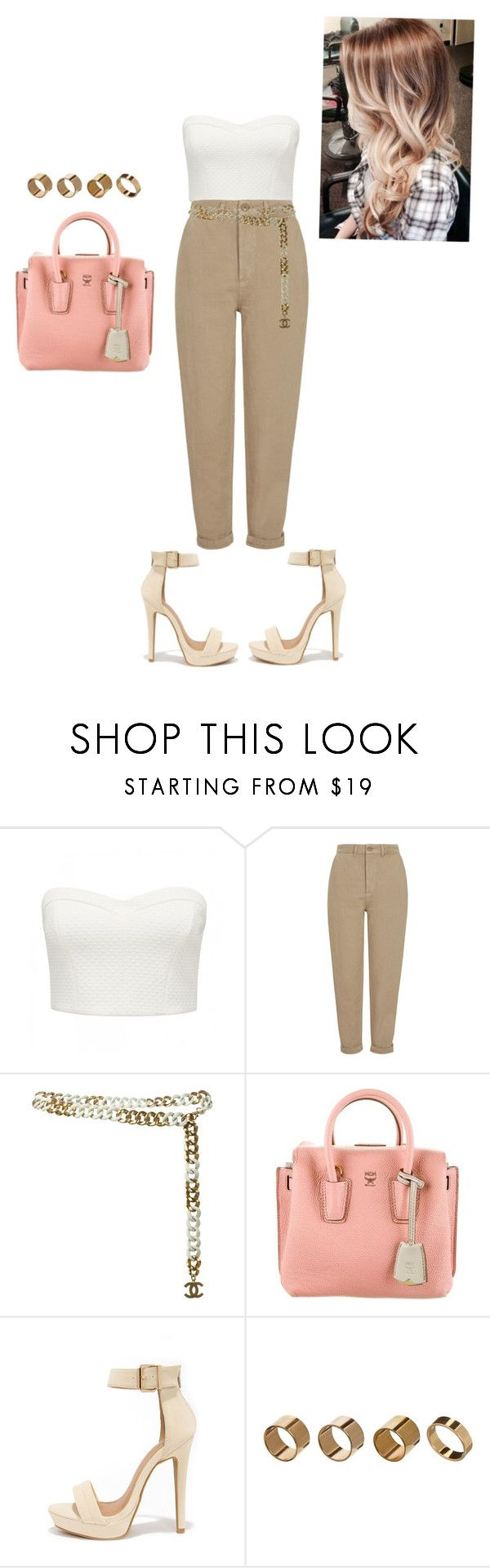 """""""Untitled #195"""" by kevinharris ❤ liked on Polyvore featuring Forever New, Topshop, Chanel, MCM, Shoe Republic LA and Warehouse"""