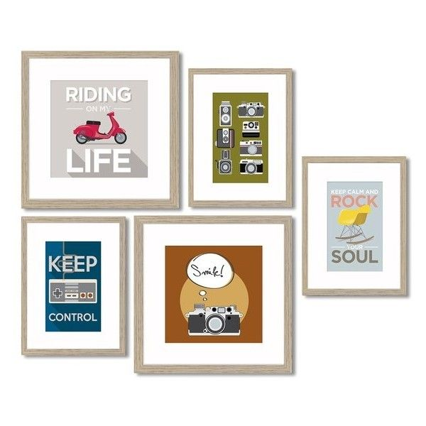 Crystal Art Gallery 5 Piece Framed Wall Art Gallery 30 Liked On Polyvore Featuring Home Home Decor Wall Art Art Gallery Wall Crystal Art Framed Wall Art
