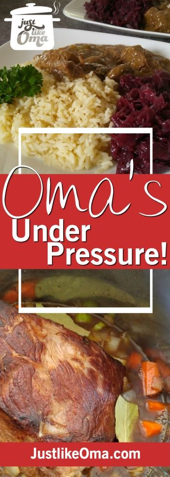 Check out these Instant Pot Pressure Cooker recipes that Oma's been converting from her traditional German recipes. ❤️ http://www.quick-german-recipes.com/pressure-cooker-recipes.html
