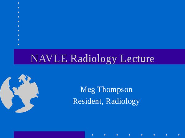 NAVLE Radiology Lecture