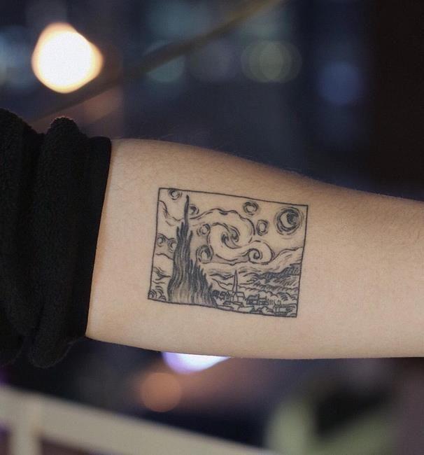 Choxdal 30+ minimalistische Tattoo-Idee