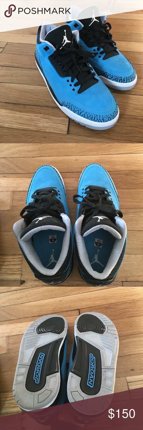 Air retro 3 powder blue Jordan shoes Air retro 3 powder blue in mint condition no original box for this pair of shoes Jordan Shoes Sneakers