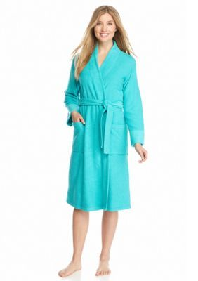 N Natori Aquamarine Brushed Terry Robe - PC4016