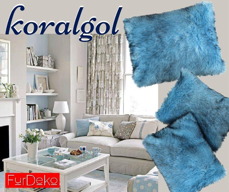 Dziś Pierwszy Dzień Jesieni    do delikatnych i pastelowych jesiennych aranżacji wykorzystajcie poduszkę KORALGOL w odcieniu błękitu i szarości      KORALGOL --> http://bit.ly/1QYETaE    www.FurDeko.pl