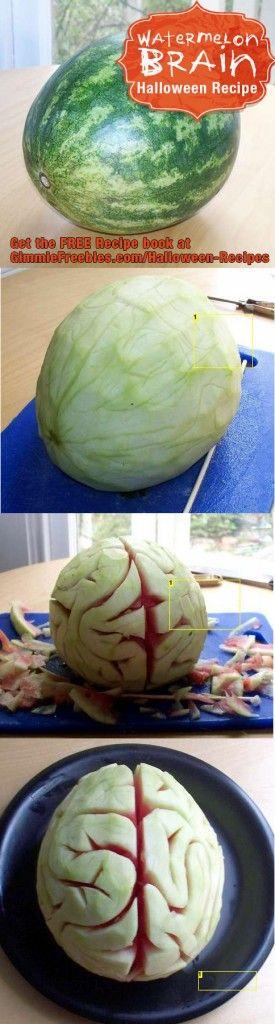 Wassermelonen-Gehirn - Die 8 besten Halloween Ideen | Meine Svenja