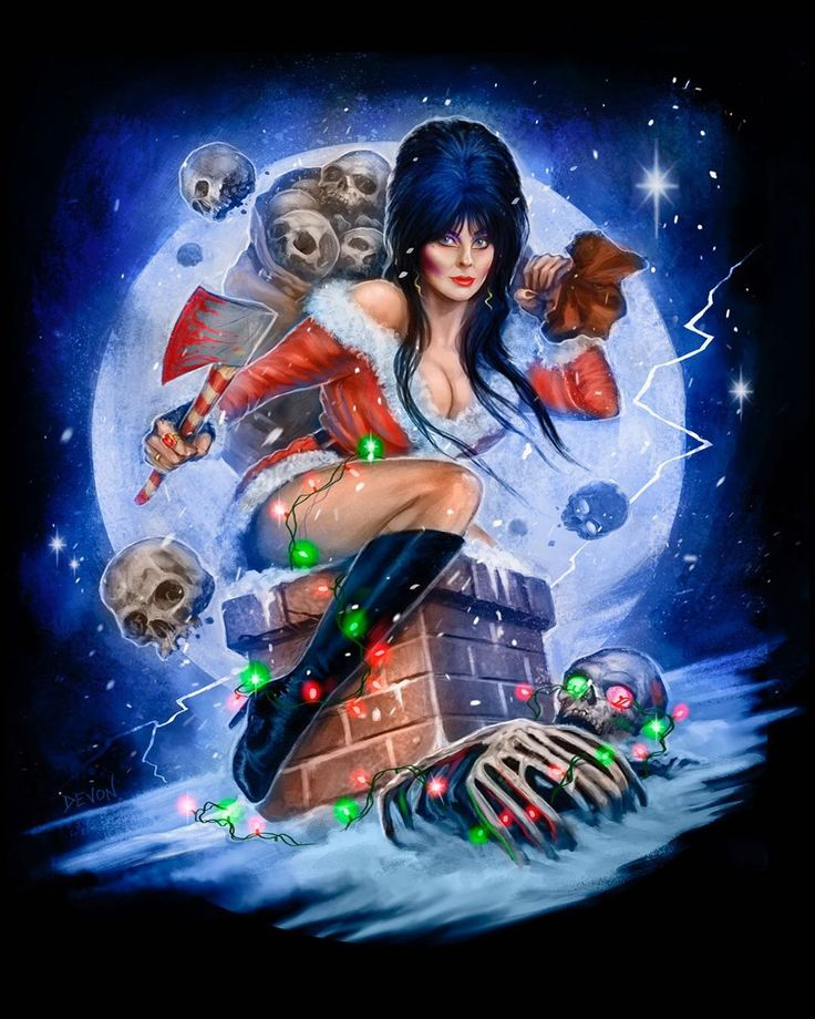 Elvira Christmas design by Devon Whitehead in 2020