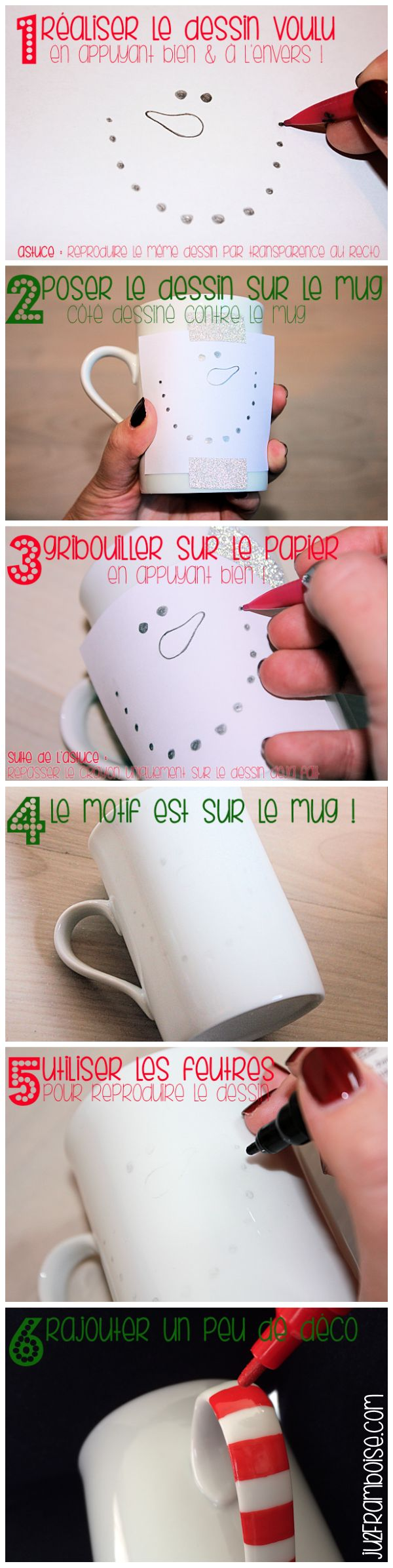 tuto mug noel diy bonhomme de neige