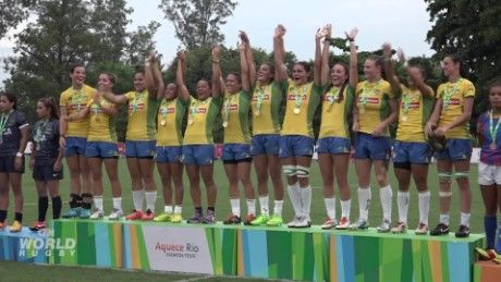 Rugby sevens is given an Olympic trial - CNN Video
