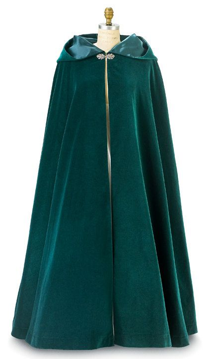 Hey, I found this really awesome Etsy listing at https://www.etsy.com/listing/165983793/green-velvet-morgana-long-cloak-with
