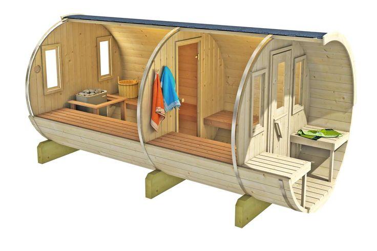Saunafass Fass Sauna kaufen von Gartenhaus-King.de