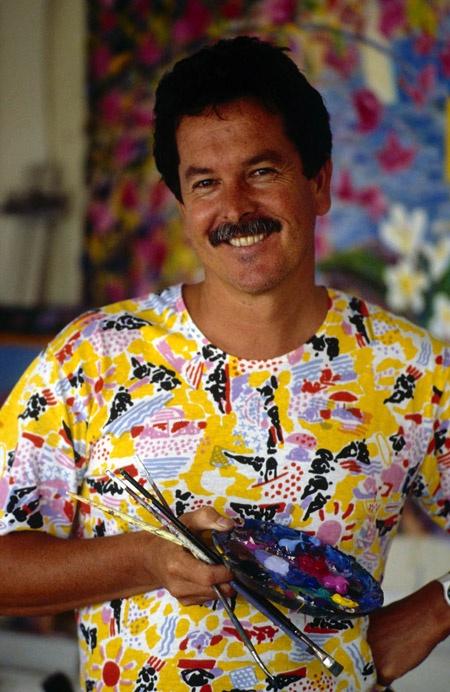 Iconic Australian artist Ken Done, Art Gallery, The Rocks, Sydney