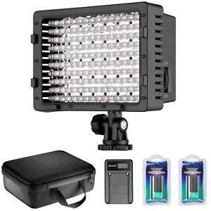 a ultra alta potencia led panel regulable video luz kit 2600 mah estuche cargador usb