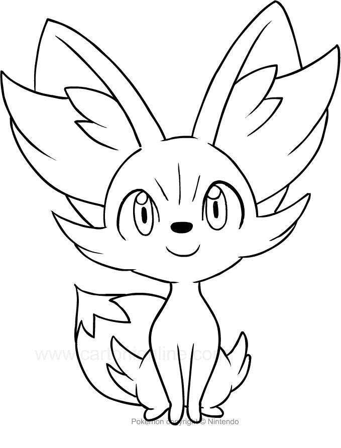 Fennekin Para Colorear Pokemon Coloring Pages Pokemon Coloring Pikachu Coloring Page