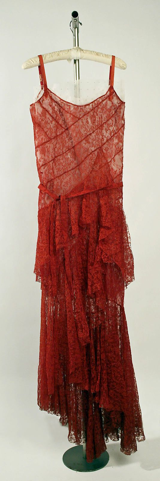 """Evening Dress, 1930 Gabrielle """"Coco"""" Chanel (French, 1883–1971) Cotton and silk"""