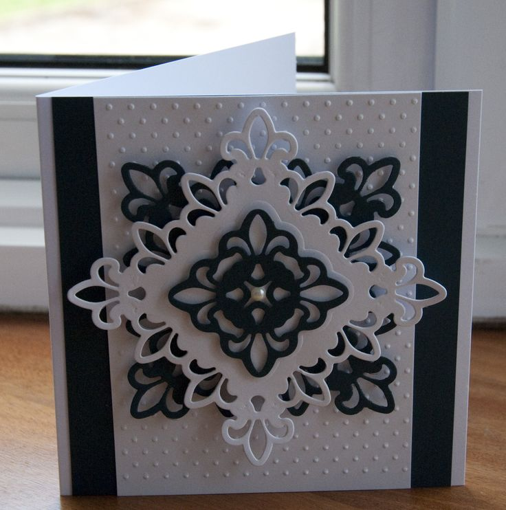 Simple black & White spellbinders card