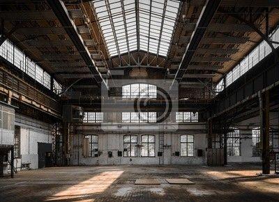 Fotobehang Industriële interieur van een oude fabriek