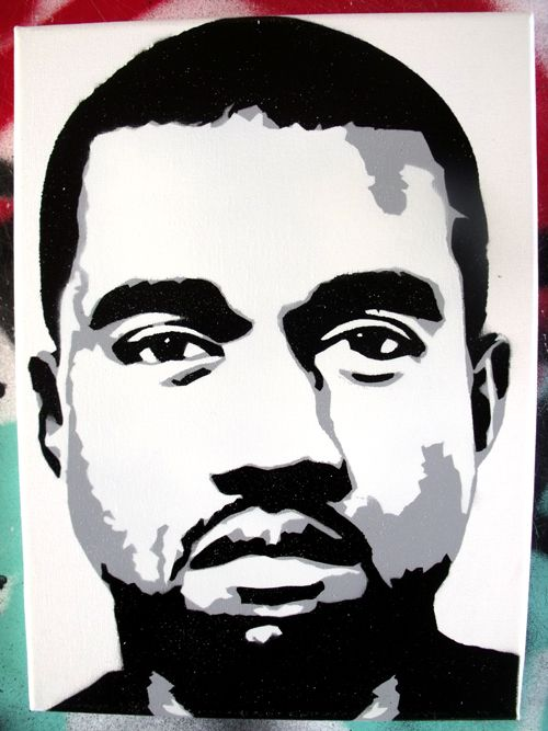 Kanye West stencil canvas by CRONENZ on DeviantArt
