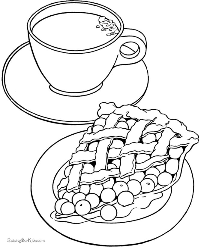 apple pie coloring page 004