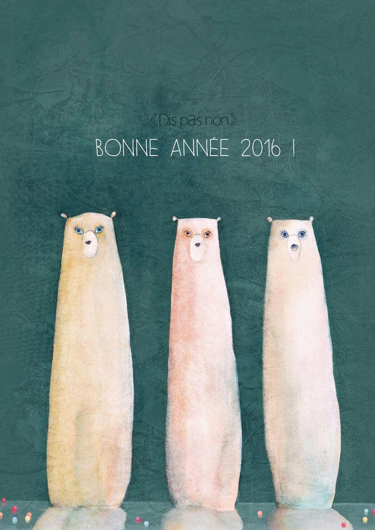 """Bonne année 2016 ! ( """"Dis Pas Non"""" Polar bears )"""