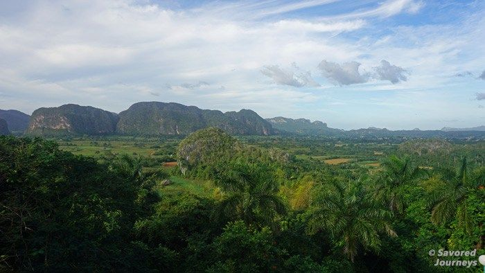 The view of Valle de Vinales from Hotel Cubanacán Los Jazmines