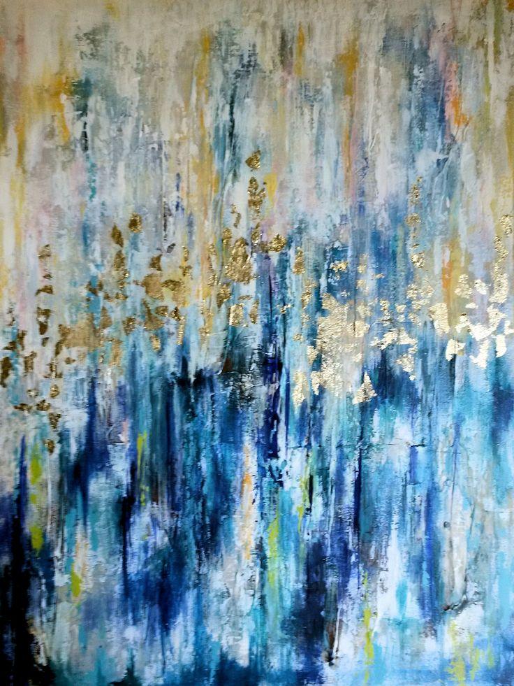 Acrylics 60x82 cm - title: Reflections by Celina Schou