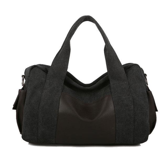 Aosbos Canvas Gym Bag Men Women Sports Bag for Fitness Outdoor Traveling Handbags Durable Multifunctional Training Shoulder Bag