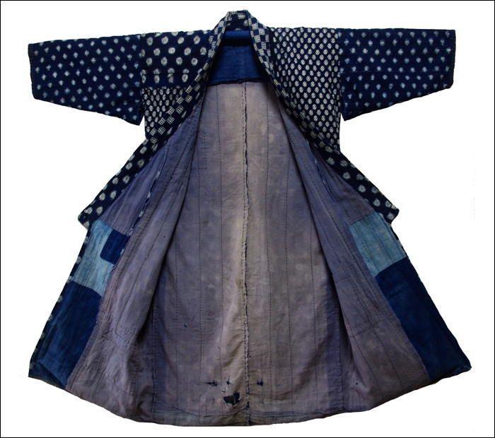 """Japanese Noragi Cotton Indigo Jacket"""""""