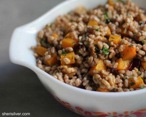 Farro Salad with Butternut Squash | Eat Your Veggies | Pinterest