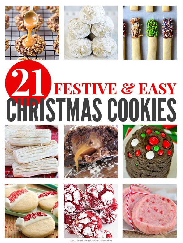 You'll find the perfect Christmas Cookie recipe to add to your list of family favorites with one of these 21 Festive & Easy Christmas Cookie Recipes.
