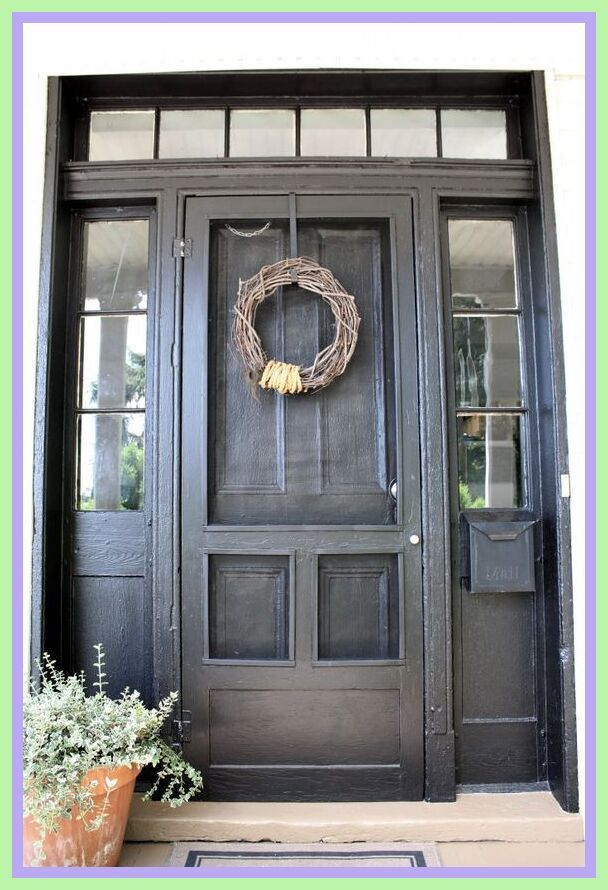 42 Reference Of Screen Door Ideas Farmhouse Front Door In 2020 Painted Front Doors Wooden Front Doors House Front Door