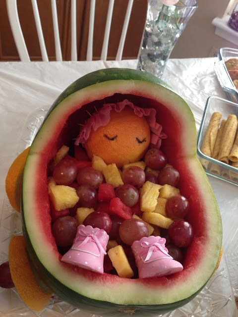 baby fruit carriage for baby shower for a girl baby shower ideas diy I found those shows at the dollar store
