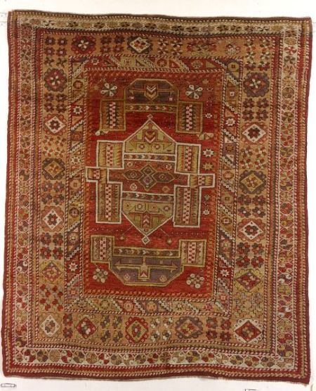 Melas Rug, Southwest Anatolia, second half 19th century,  5 ft. 9 in. x 5 ft.   | Skinner Auctioneers Sale 2293